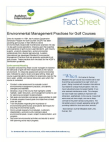 Study on Environmental Management Practices for Golf Courses