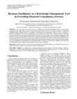 Study on Business Intelligence as a Knowledge Management Tool