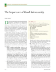 A Study on Importance of Good Salesmanship