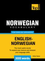 Norwegian vocabulary for English speakers: 3000 words