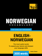 Norwegian vocabulary for English speakers