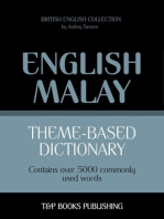 Theme-based dictionary: British English-Malay - 5000 words
