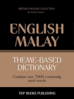 Theme-based dictionary: British English-Malay - 7000 words