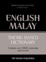Theme-based dictionary: British English-Malay - 3000 words