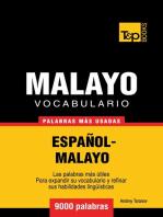 Vocabulario Español-Malayo: 9000 palabras más usadas