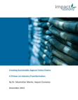 Project Report on Creating Sustainable Apparel Value Chains