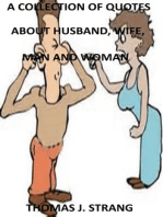 A Collection Of Quotes About Husband, Wife, Man And Woman.