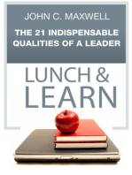 The 21 Indispensable Qualities of a Leader Lunch & Learn