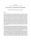 Study on Managing Customer Relationships