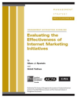 Study in Effectiveness of Internet Marketing Initiatives