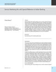 Reference Study on Service Marketing Mix - Indian Banking