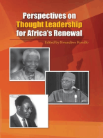 Perspectives on Thought Leadership for Africa�s Renewal