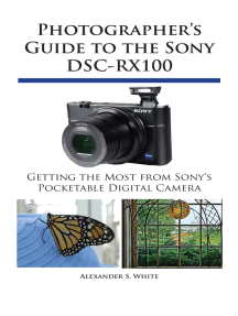 Photographer's Guide to the Sony DSC-RX100: Getting the Most from Sony's Pocketable Digital Camera