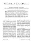 Study Paper on Models for Supply Chains in E-Business