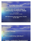 Role of Leadership in Enhancing Workplace Safety