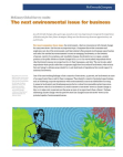 Global Survey Study on Next Environmental Issue for Business