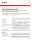 Research Study on Multilayered Security in a Distributed Business-Critical Environment