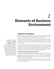 Studies in Elements of Business Environment