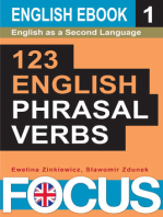 123 English Phrasal Verbs. Volume 1.