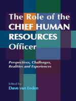 The Role of the Chief Human Resources Officer: Perspectives, Challenges, Realities and Experiences