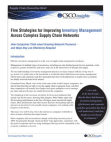 Effective Inventory Management - Supply Chain Management