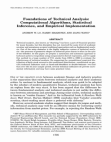 A Study on Foundations of Technical Analysis