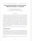 Marketing Study on Marketing Strategies for Promoting Medical Tourism - Thailand