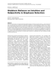 Organizational Psychology - Reliance