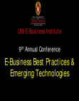 PPT on E-Business Best Practices & Emerging Technologies