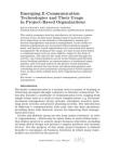Emerging E-Communication Technologies
