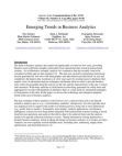 Studies in Emerging Trends in Business Analytics
