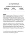 Studies in Emerging Trends in Business Analytics