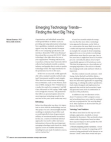 Project on Emerging Technology Trends