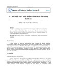Case Study on Practical Marketing - Classic Airlines