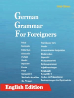 German Grammar For Foreigners