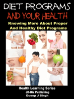 Diet Programs and your Health