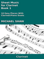 Sheet Music for Clarinet: Book 1