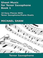 Sheet Music for Tenor Saxophone