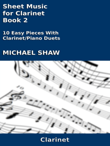 Read Sheet Music For Clarinet Book 2 Online By Michael Shaw Books