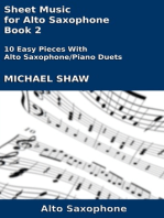 Sheet Music for Alto Saxophone