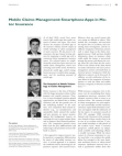 Project Report on Mobile Claims Management