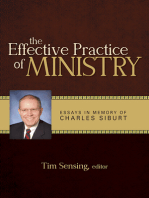 The Effective Practice of Ministry