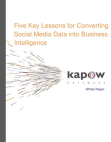 White Paper on Converting Social Media Data into Business Intelligence