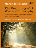 The Beginning of Western Philosophy: Interpretation of Anaximander and Parmenides