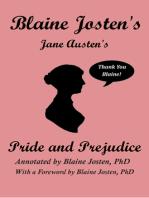 Blaine Josten's Jane Austen's Pride and Prejudice (Annotated)
