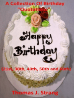 """A Collection Of Birthday """"Quotations"""""""