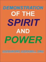 Demonstration of the Spirit and Power