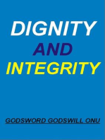 Dignity and Integrity