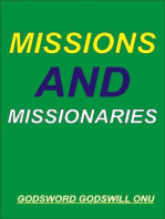Missions and Missionaries