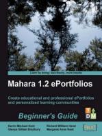 Mahara 1.2 ePortfolios Beginner's Guide